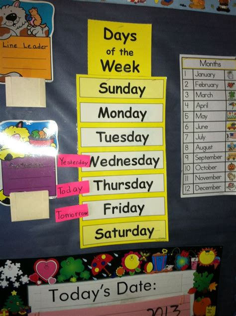 days  week math corner classroom decor middle