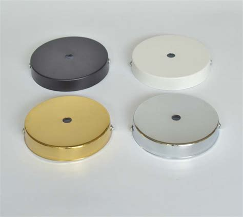 d100mm white black chrome gold ceiling plate ceiling