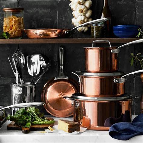 clad  copper  piece cookware set copper cookware
