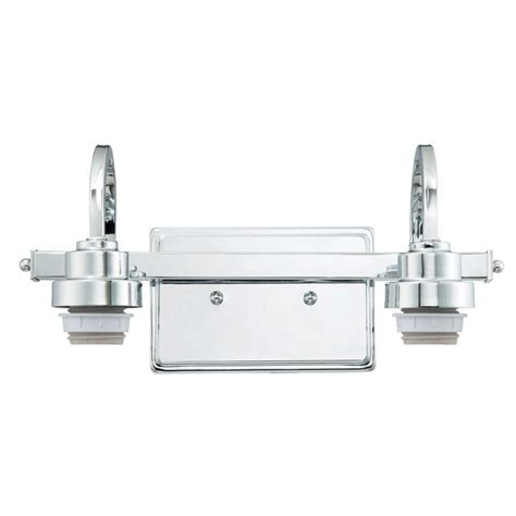 westinghouse 2 light chrome wall mount bath light 6310500