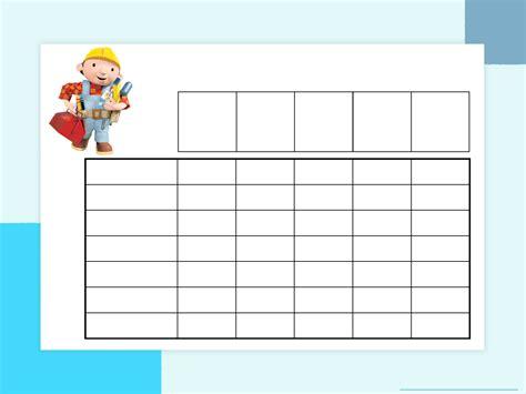 blank potty training chart