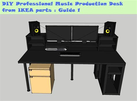 ikea studio desk hack guide diy music production desk from ikea parts build 1