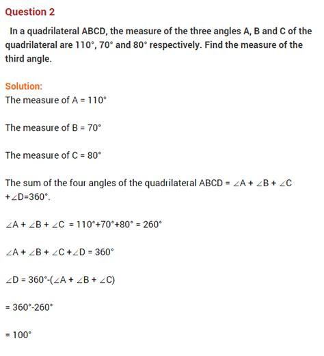 understanding quadrilaterals ncert questions for