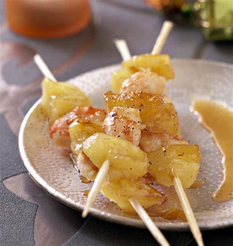 cuisine plus tv recettes brochettes de gambas et ananas les meilleures recettes