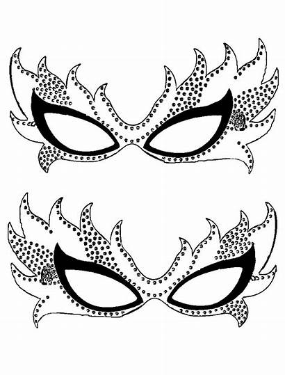 Mardi Gras Coloring Pages Printable Mask Template