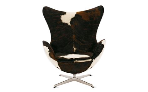 Cowhide Egg Chair by Egg Chair Cowhide Cowhide Design Within Reach