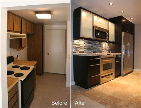 Mobile Home Kitchen Remodeling Ideas - before after small kitchen remodels modern kitchens