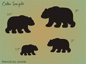 STENCIL Lodge Rustic Black Bear Animal Shape Scrapbook