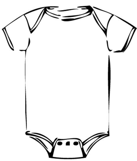 Free Baby Onesie Outline Download Free Clip Art Free Clip Art on Clipart Library