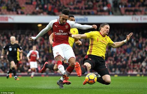 Arsenal 3-0 Watford: Mustafi, Aubameyang and Mkhitaryan ...