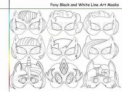 Pony Coloring Printable Pages Party Masks Mask