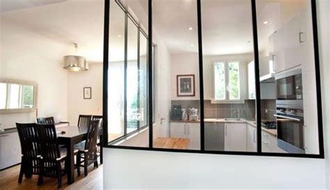 cloison vitree cuisine salon cloison vitree pour cuisine fermee appartement