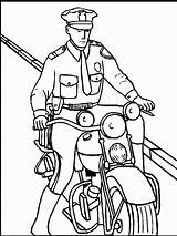 Coloring Policeman Pages Printable sketch template