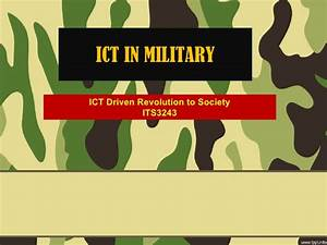 military presentation background