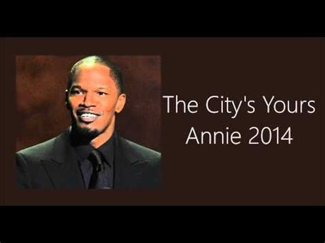 Annie (2014) | maybe lyrics quvenzhané wallis maybe far away or maybe real nearby he may be pouring her coffee she may be. The City's Yours Annie 2014 - YouTube