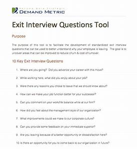 Exit interview questions tool a template to facilitate for Exit interview questions template