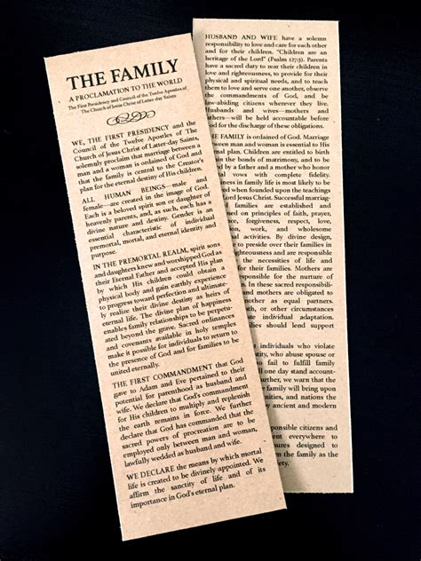 printable family proclamation bookmark picture fab