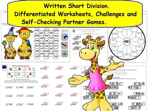 ks2 y5 y6 written formal short division differentiated