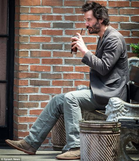 Sad Keanu Meme - keanu reeves has a solitary drink outside his nyc hotel daily mail online