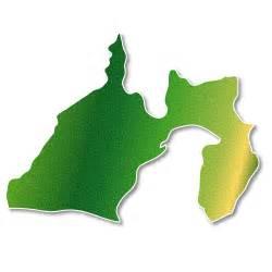 静岡県:静岡県 緑 地図|フリー イラスト