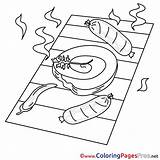 Coloring Grill Pages Sheet Title sketch template