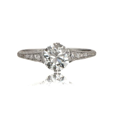 engagement rings deco style deco style platinum engagement ring