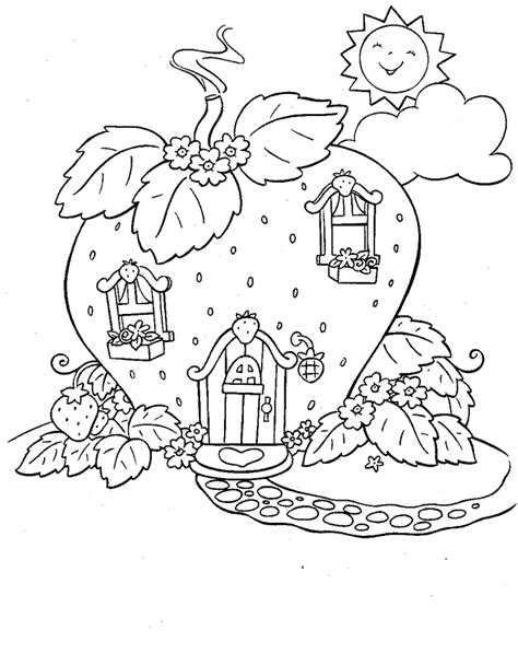 strawberry shortcake coloring pages learn  coloring