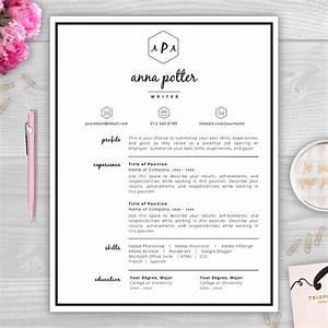 9 best monogram resume templates images on pinterest With free monogram resume template