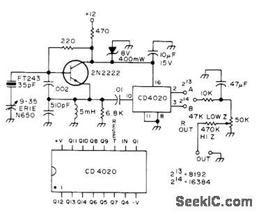 Subaudible Tone Encoder Power Supply Circuit