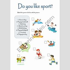 English Worksheets Do You Like Sports?
