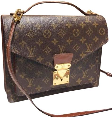 louis vuitton monogram vintage messages bagcross brown