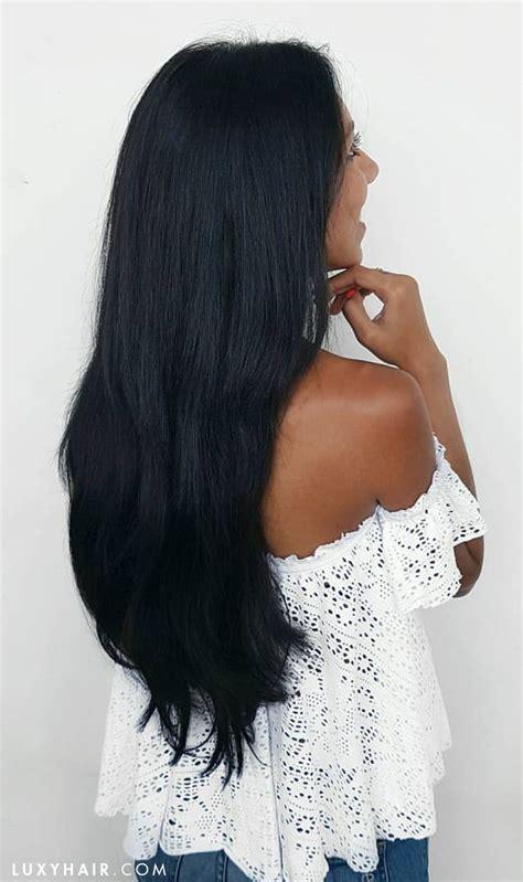 black hair extensions ideas  pinterest black