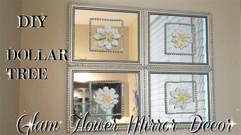 diy dollar tree mirror decor  flowers quick easy