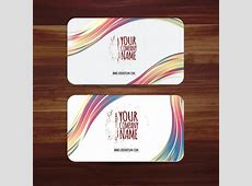 Business card template vector illustration with colorful
