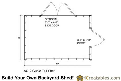 8x12 backyard shed plans tall shed plans storage shed