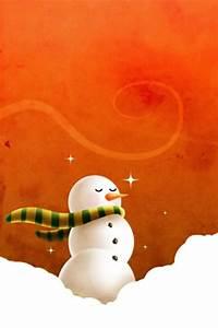 Christmas Snowman iPhone Wallpaper HD