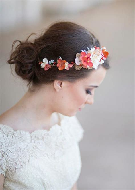 Fall Headband Fall Wedding Flower Crown Autumn Flower Crown