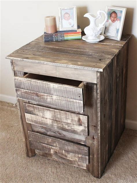 diy pallet wood side table plans pallet wood projects