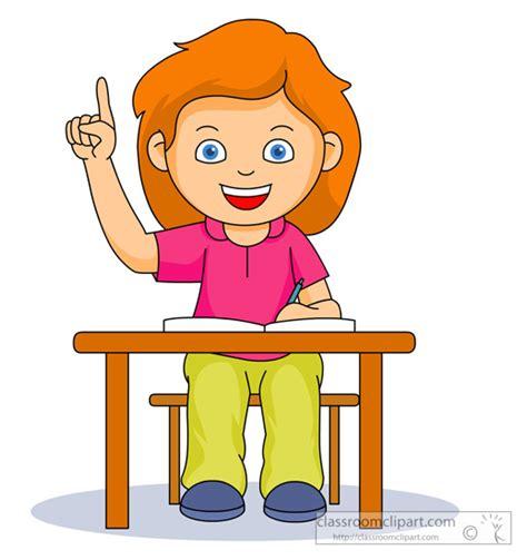 Raise Clipart Desk Clipart Raise Your Pencil And In Color Desk