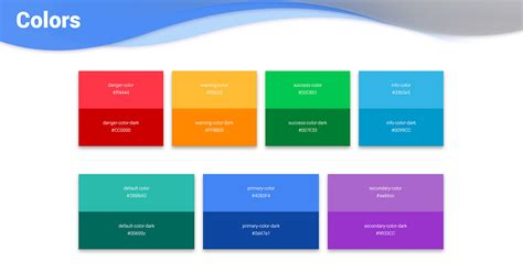 bootstrap colors examples tutorial basic advanced usage material design  bootstrap