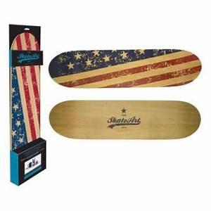 Etagère skateboard murale grand modèle - USA - Décoration