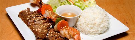 grille de cuisine plats avec riz restaurant soleil d 39 asie cuisine