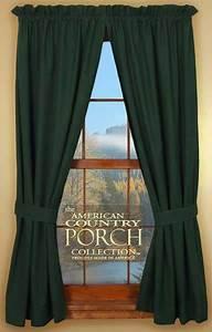 Solid Green Tieback Curtain Panels