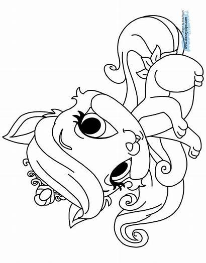 Pets Coloring Palace Pages Pet Princess Disney