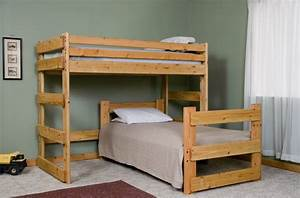 free bunk bed plans twin over full Discover Woodworking