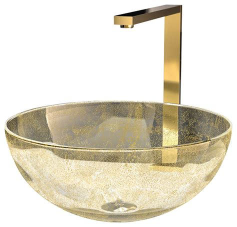 murano laguna luxury glass vessel sink gold eclectic
