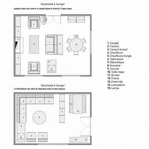Aménager Salon Salle À Manger 20m2 : amenager salon salle manger carree ~ Melissatoandfro.com Idées de Décoration