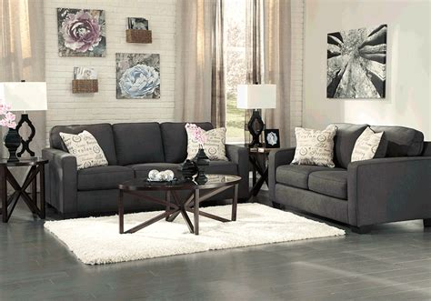 Loveseat And Chair Set by Alenya Charcoal Sofa Set Cincinnati Overstock Warehouse