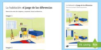bedroom spot  differences game spanish speaking