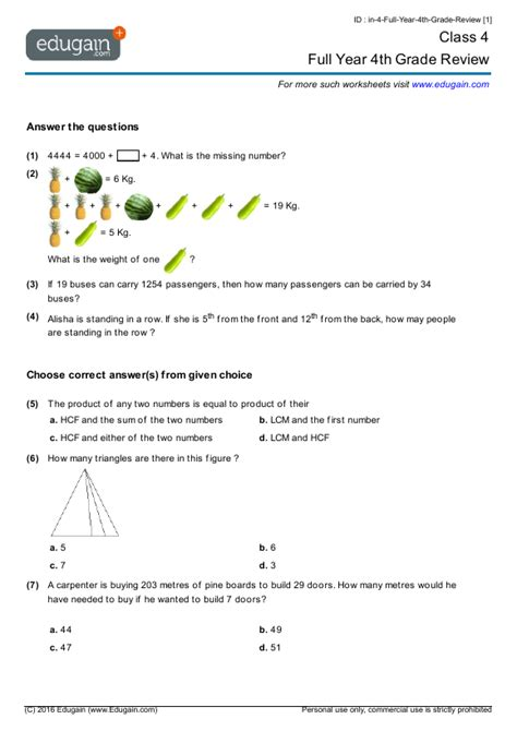 fractions worksheets for class 5 cbse free maths